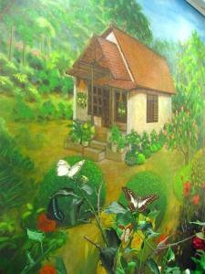 Diorama Kupu-kupu di Pekarangan